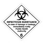 Hazard safety sign - Infectious Substance 044